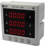 PA194I-2K4 - амперметр 3-канальный (общепромышленное исполнение)