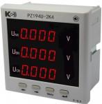 PZ194U-2K4 - вольтметр 3-канальный
