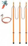 ЗПЛ-10-3/3-25 - заземление переносное линейное трехфазное (фазный зажим комбинированного типа)