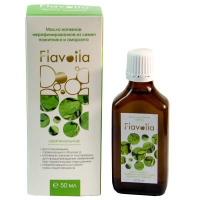Масло Флавойла, из семян шамбалы и амаранта, нерафинированное, при гормональных нарушениях, 50мл