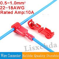 Зажим-соединитель проводки 22-18 AWG  быстрый монтаж проводки