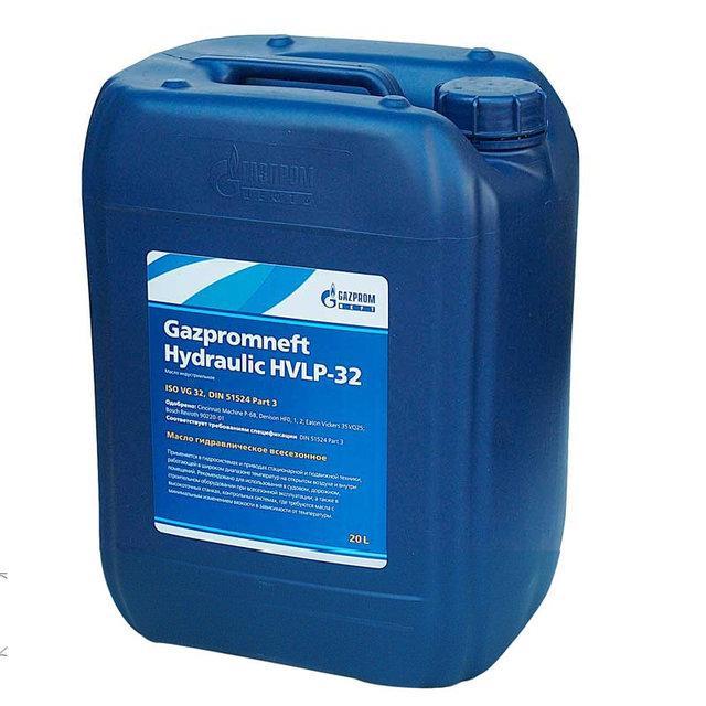 Гидравлическое масло Газпром HVLP-32 20л.