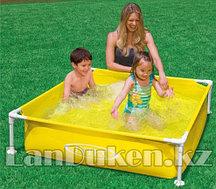 "Каркасный детский бассейн ""Mini Frame Pool Intex"" 57172 NP (122* 122* 30 см) желтый"