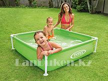 """Каркасный детский бассейн """"Mini Frame Pool Intex"""" (122* 122* 30 см) зеленый"""