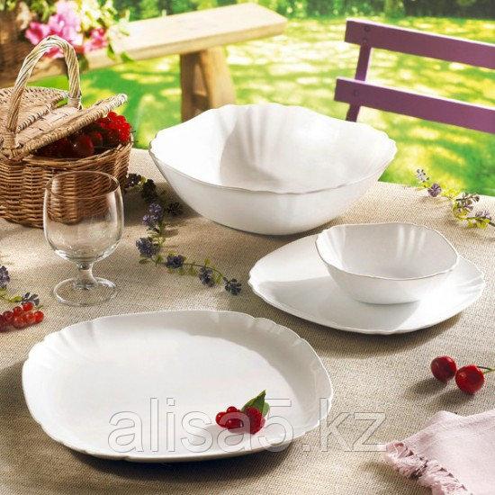 LOTUSIA белый сервиз столовый и чайный 30 предметов на 6 персон