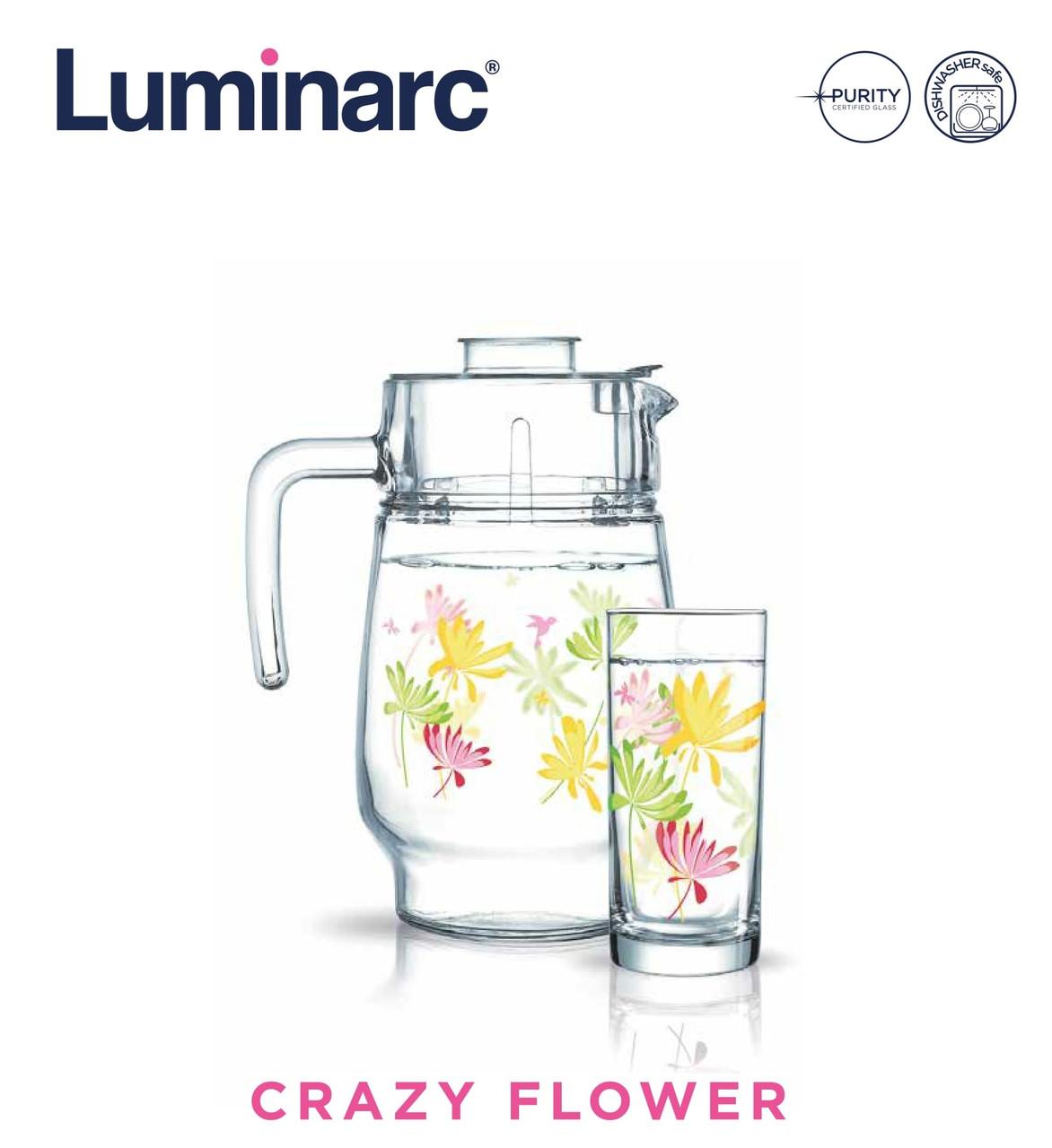 Набор для напитков Luminarc Crazy Flower (7пр) (N0802)