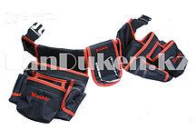 Сумка-пояс двойная для инструмента, 20 карманов, держатель молотка MATRIX 90240 (002)