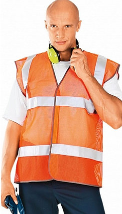 ЖИЛЕТ СИГНАЛЬНЫЙ сетка (оранжевый), фото 2