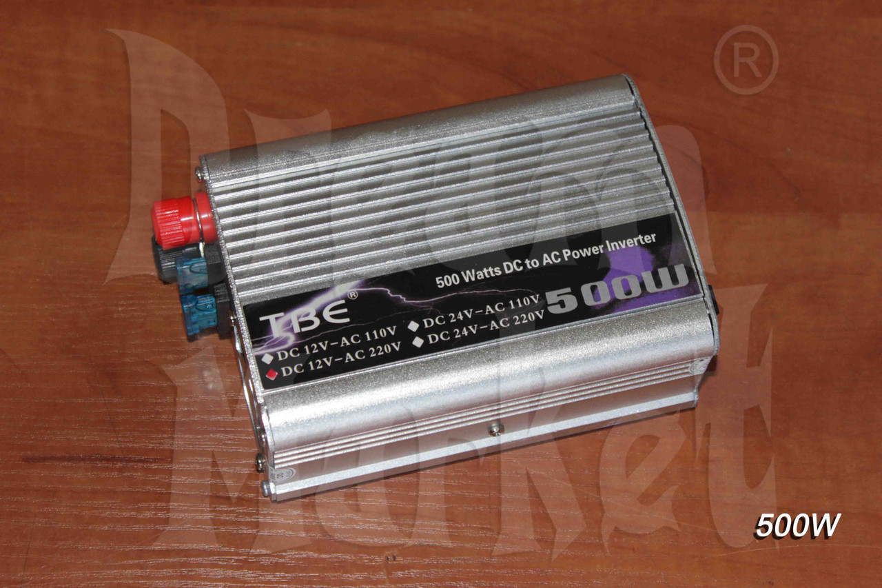 Инвертор 12В на 220В, 500 Вт, защита от перегрузки, питание от аккумулятора, питание от прикуривателя