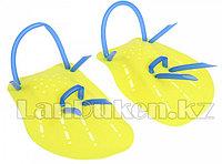 Лопатки гребные для плавания желтые (ласты для рук)