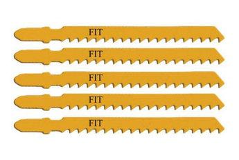 (41107) Полотна для электролобзика/дереву, европ.хвост., усил.сталь, 12Т, 5шт.