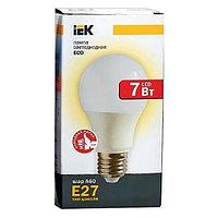 Лампа светодиодная ECO A60 7Вт грушевидная 4000К бел. E27 633лм 230-240В ИЭК LLE-A60-7-230-40-E27