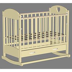 Кровать детская Ведрусс Иришка-2 слоновая кость