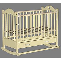 Кровать детская Ведрусс Лана-2 слоновая кость