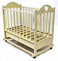 Кровать детская Ведрус Таисия 2 слоновая кость