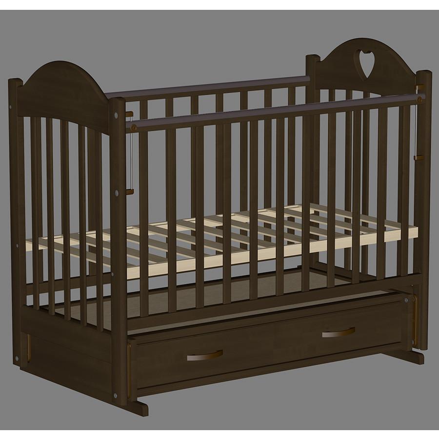Кровать детская Ведрус Таисия 3 темный орех