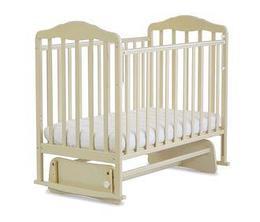 СКВ Кровать детская БЕРЕЗКА маятник Бежевый