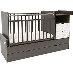 Детская кроватка СКВ Компани СКВ-5 трансформер Жираф венге+белый