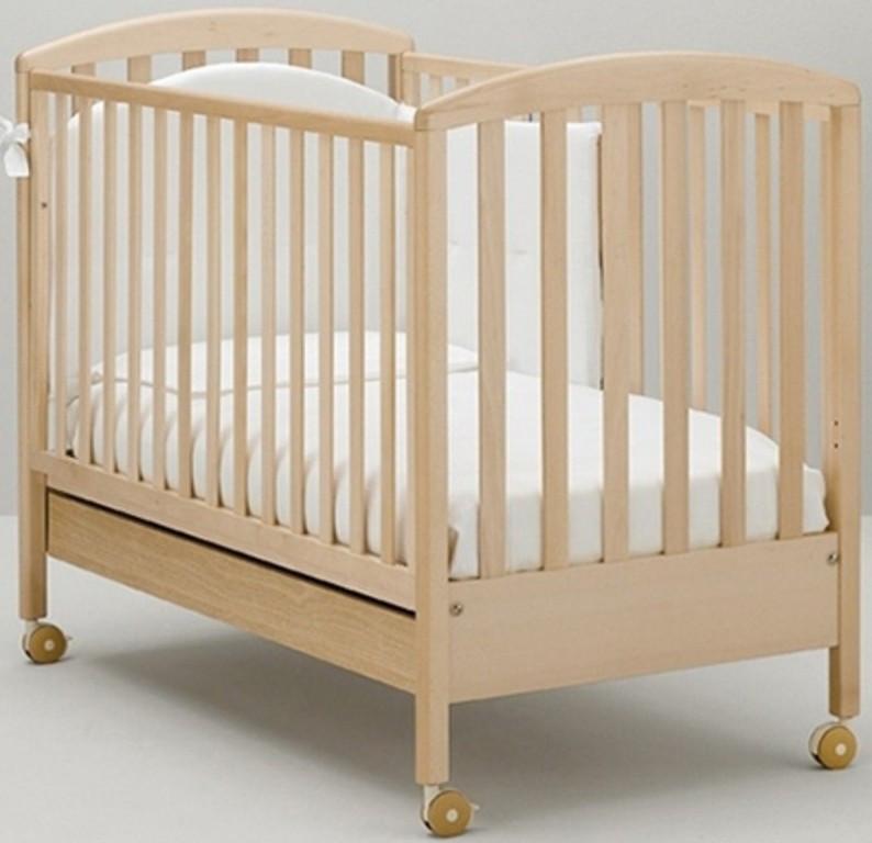 Детская кроватка MIBB Superpop Sbiancato/выбеленный бук 125x65