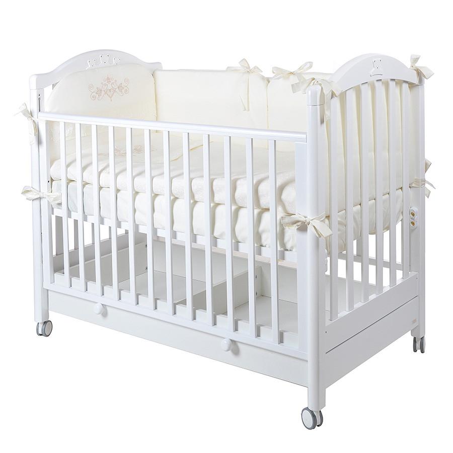 Детская кроватка MIBB Tender Bianco/белый 120x60