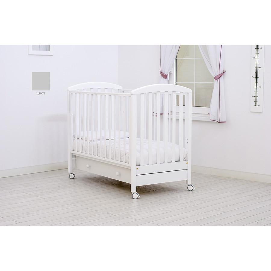 Детская кроватка MIBB Superpop Bianco/белый 120x60
