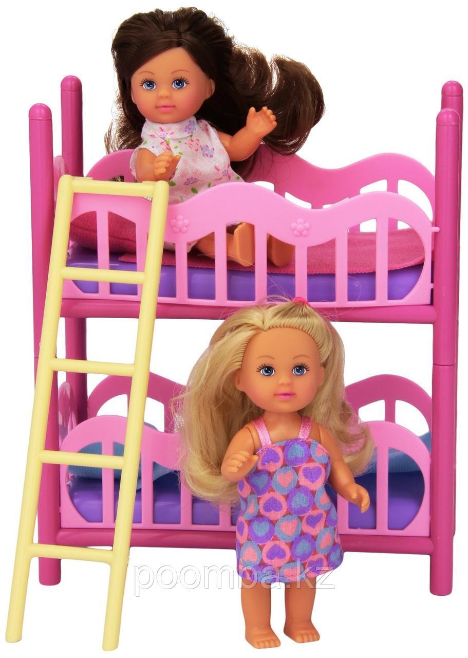 """Игровой набор с куклами Еви """"Двухэтажная кроватка"""""""