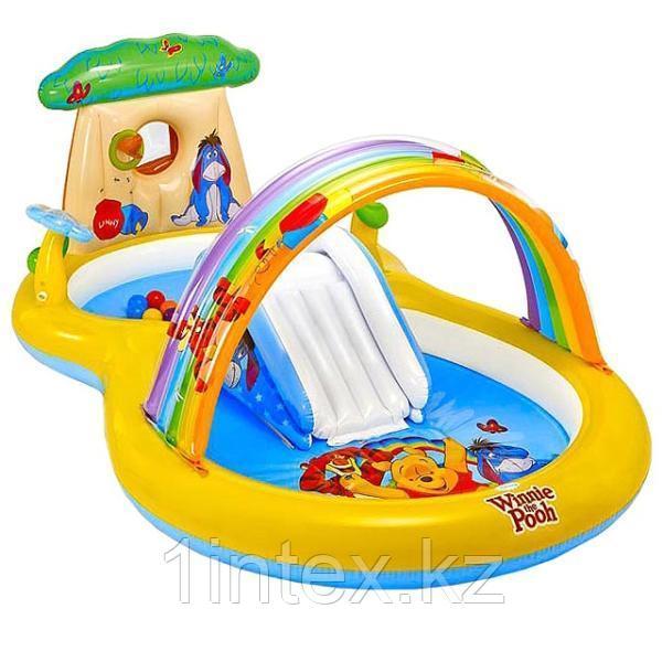 """Intex Игровой центр 282х173х107см """"Винни Пух"""" Disney, от 3 лет, распрыскиватель, 2 бассейна и горка, уп.2"""