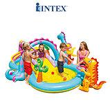 Intex Игровой центр бас. с горкой Dinoland 333х229х112см, до 81кг, от 3 лет, уп.2, фото 4