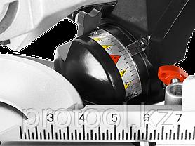 """Пила ЗУБР """"МАСТЕР"""" торцовочная, с протяжкой, ременная передача, 255мм, 1800Вт, лазер, удлинители стола, фото 3"""