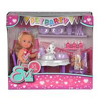 """Кукла Еви набор""""Вечеринка для домашних любимцев""""32 предмета"""