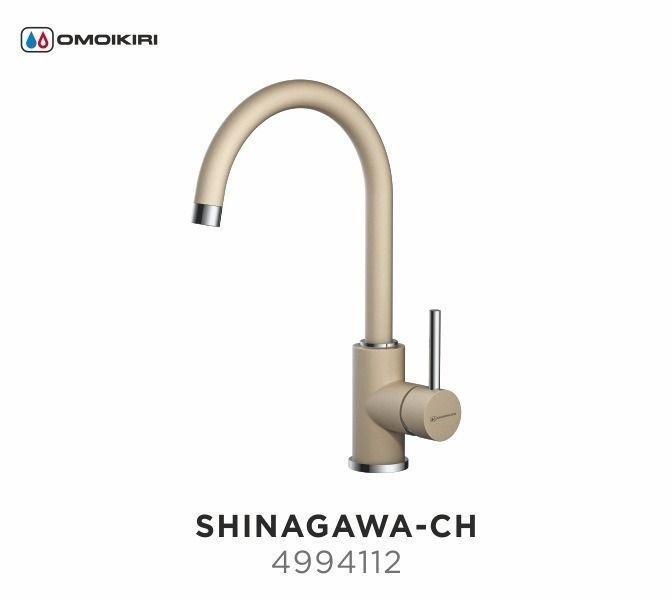 Смеситель OMOIKIRI SHINAGAWA-CH (4994112), ШАМПАНЬ/ХРОМ