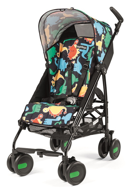 Коляска трость PEG PEREGO PLIKO MINI Lightweight stroller with hood DINO POP