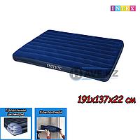 Полуторный надувной матрас Intex 68758, размер 191x137x22 см