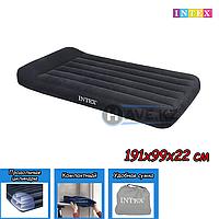 Односпальный надувной матрас Intex 64141, 66767, размер 191x99x25 см, фото 1