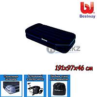 Односпальный надувной матрас Bestway 67381, размер 191х97х46 см, с электрическим насосом , фото 1