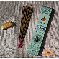 """Натуральные Масала-Благовония  """"Белый Шалфей"""" (Masala Incense """"White Sage"""" AYURVEDIC), 15 палочек"""
