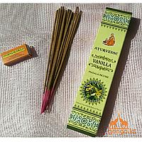 """Натуральные Масала-Благовония  """"Ваниль"""" (Masala Incense """"Vanilla"""" AYURVEDIC), 15 палочек"""
