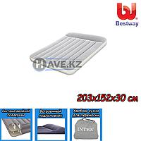 Двухспальный надувной матрас Bestway 67464, размер 203х152х30 см, фото 1