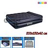 Двухспальный надувной матрас Intex 66720, Queen Rising Comfort, размер 203х152х42 см