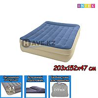 Двухспальный надувной матрас Intex 66714, размер 152х203х47 см, фото 1