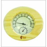 """Термометр с гигрометром """"Банная станция овальный"""" 16 x 14 x 3cм"""