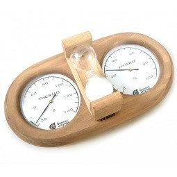 """Термометр с гигрометром """"Банная станция"""" с песочными часами 27 x 13,8 x 7,5cм"""