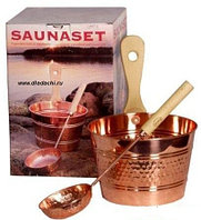 Подарочный набор для бани № 4 (брошюра, термометр, ковш медный)