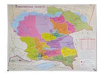 Карта Алматинской области 1,40*1м