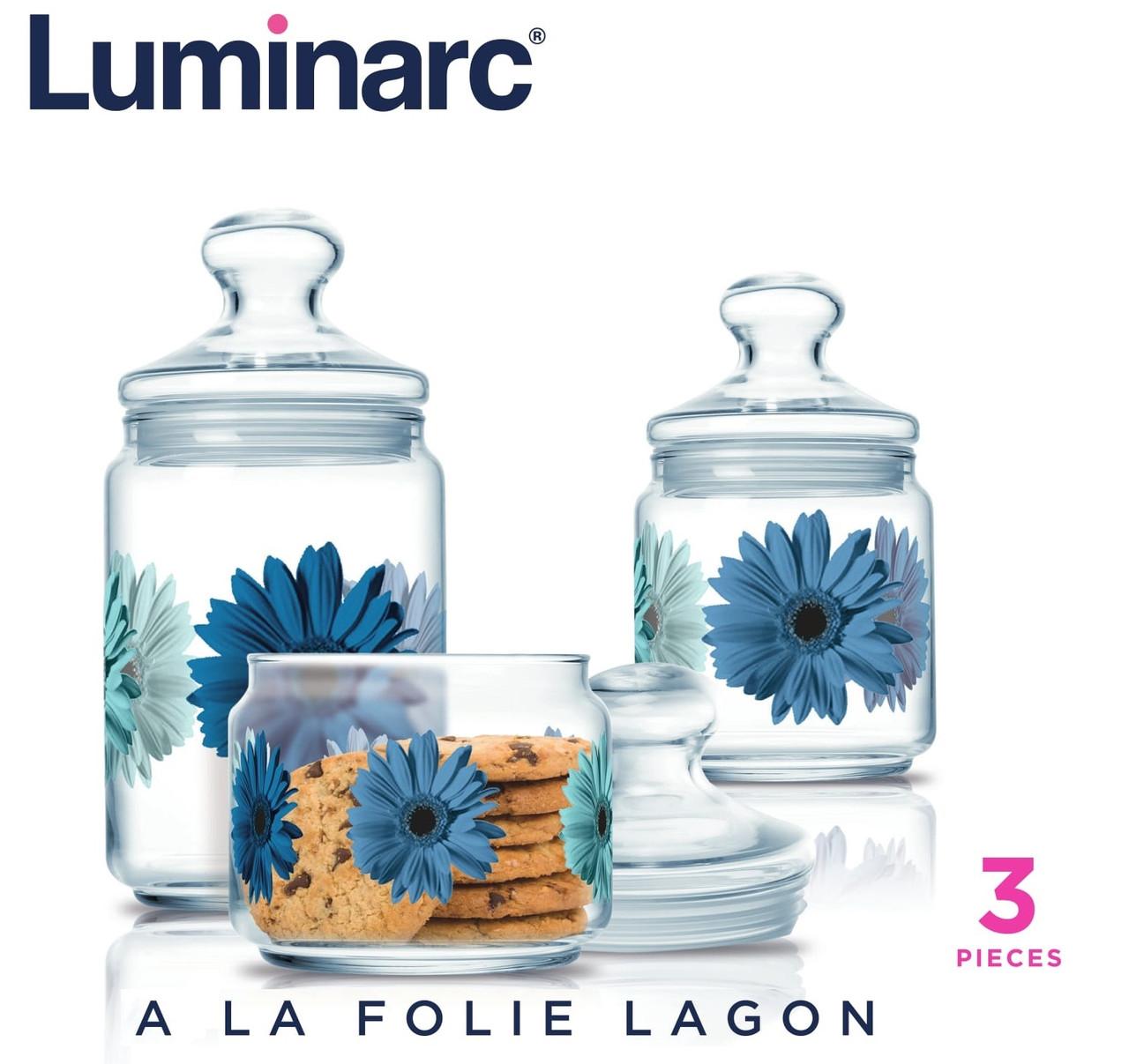 Набор банок Luminarc A La Folie Lagon 3 пр. (N1633)