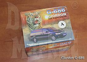 Автосигнализация Giordon G-686 без автозавода, открыть/закрыть, 2 пульта, сирена