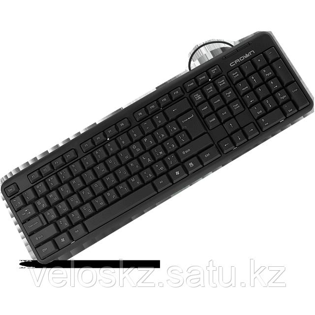 Клавиатура проводная Crown CMK-100, USB, 1.8м, KAZ/RUS/ENG