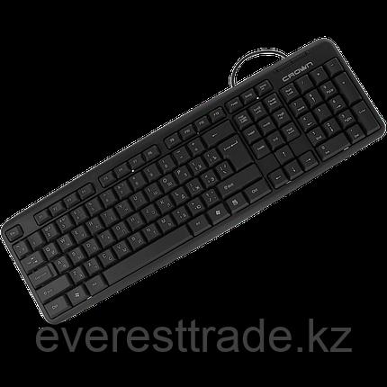 Клавиатура проводная Crown CMK-100, USB, 1.8м, KAZ/RUS/ENG, фото 2