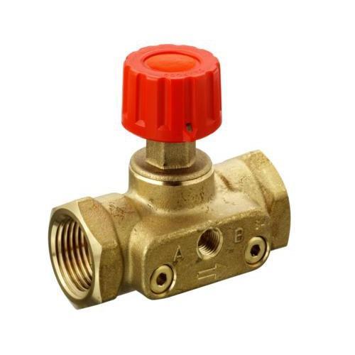 Клапан запорно-измерительный ASV-М с заглушками под измерительные ниппеля  д 3/4