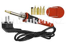 Набор для выжигания, 7 предметов (паяльник 30 ВТ, 220 В, подставка, набор сменных жал) SPARTA 913225 (002)